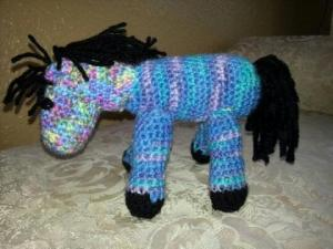 multicolored horse