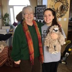 Grandma, Katelyn, Sloth - I want one!!